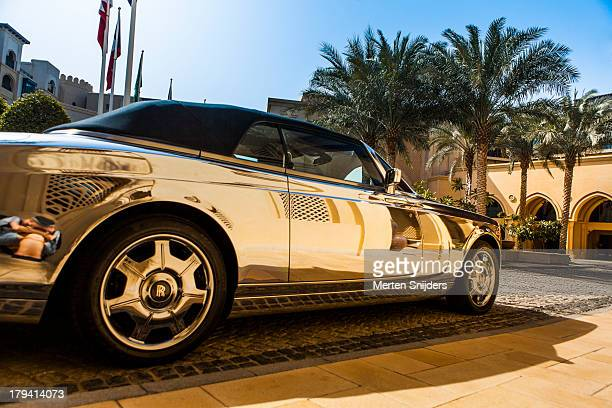 Metallic car at Palace Hotel