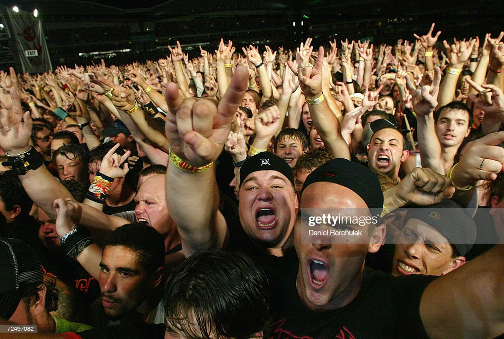 Metallica Fans During The Big Day Out Music Festival At Sydney Olympic Park January 24