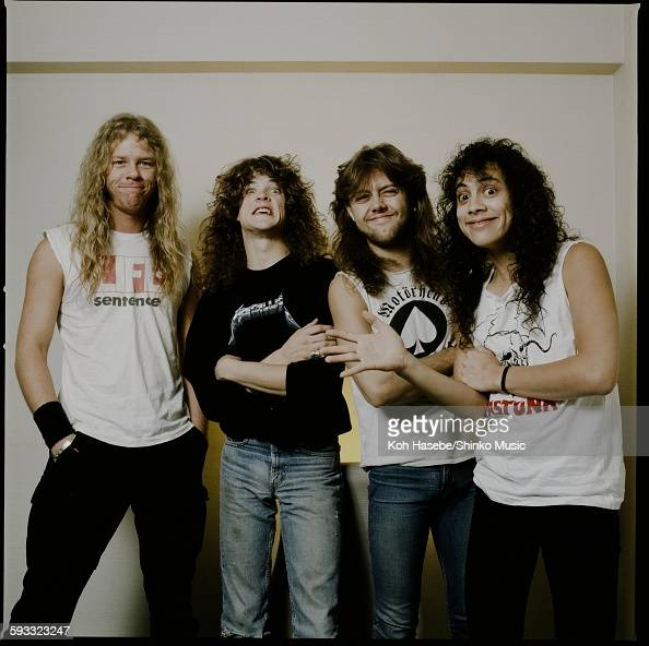 Metallica in photo session at a hotel Tokyo November 1986