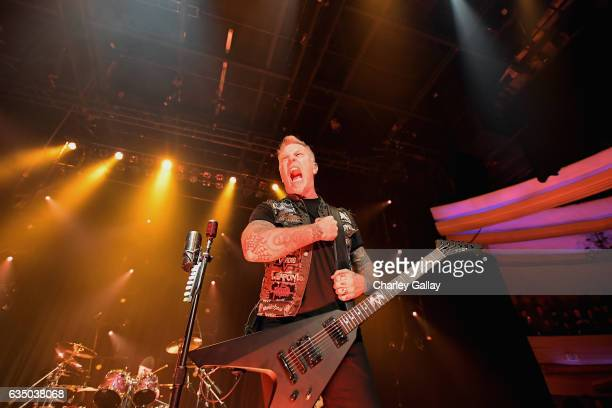 Metallica perform onstage as part of Citi Sound Vault a new live music platform curated exclusively for Citi cardmembers at Hollywood Palladium on...
