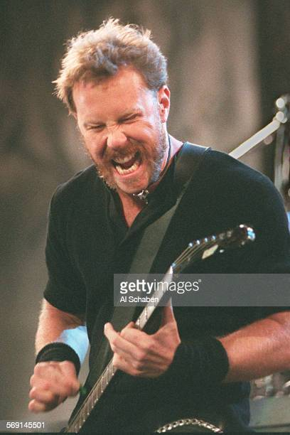 AS––IRVINE––Metallica vocalist/guitarist James Hetfield performs Saturday during Lollapalooza at Irvine Meadows