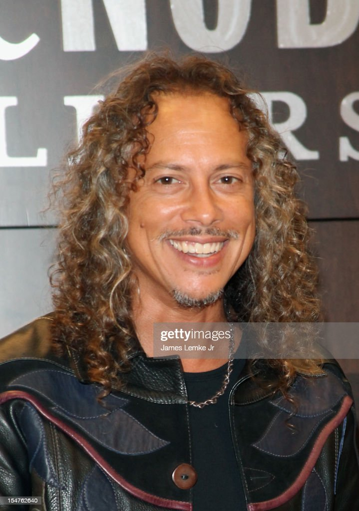 Metallica's Guitarist Kirk Hammett 'Too Much Horror Business' book signing held at the Barnes Noble bookstore at The Grove on October 25 2012 in Los...