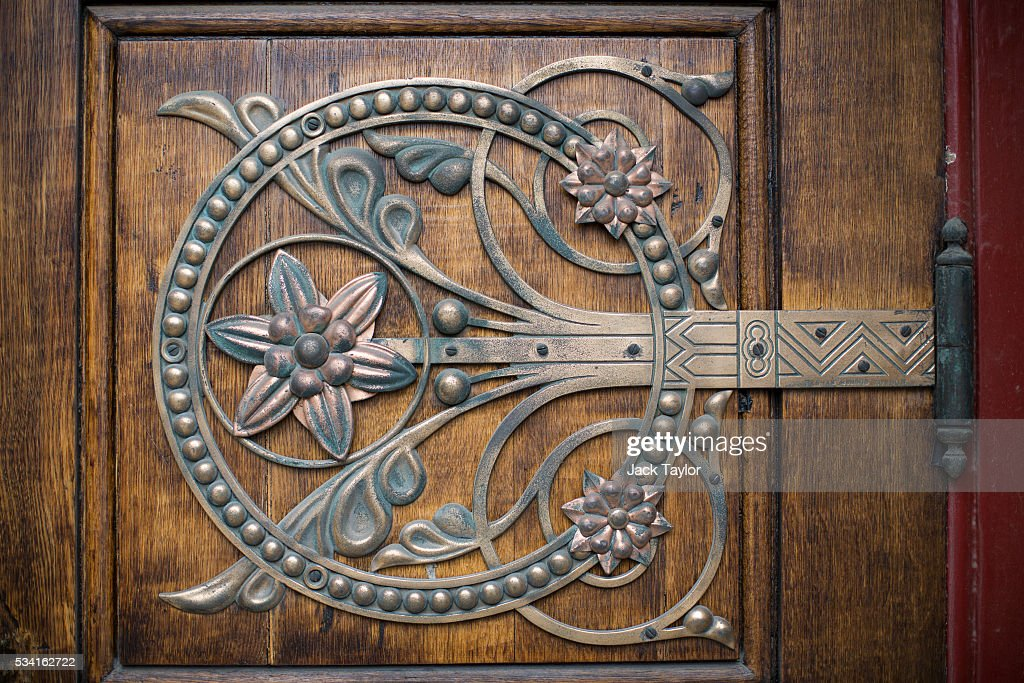 Metalwork on a door at The Abbey Mills pumping station in Stratford on May 25, 2016 in London, England. The Grade II listed building, designed by British engineer Joseph Bazalgette to lift sewage from the low-lying areas of north London, was completed in 1868. Thames Water marks Sewage Week this week with a series of events inviting members of the public down into the underground sewer network and around the Abbey Mills pumping station in east London.