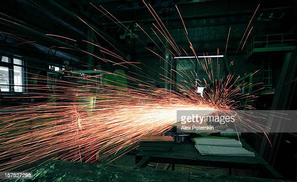 Metalworker on plant
