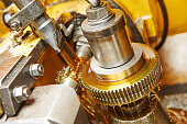 metalworking industry: tooth gear wheel machining by hob cutter mill tool