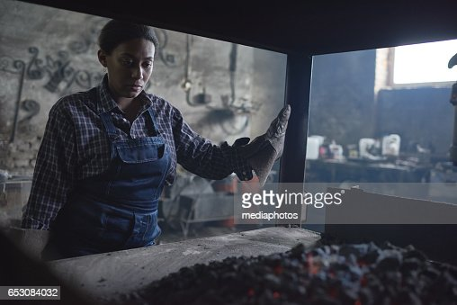 Metalworking occupation : Foto stock