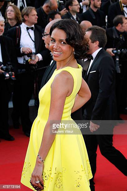 Meteo girl Laurence Roustandjee attends the 'Carol' premiere during the 68th annual Cannes Film Festival on May 17 2015 in Cannes France