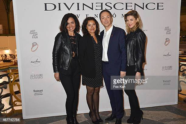TV Meteo presenters Laurence Roustandjee Anais Baydemir Philippe Verdier and Eleonore Boccara attend the 'Diamond Night by Divinescence Vendome'...