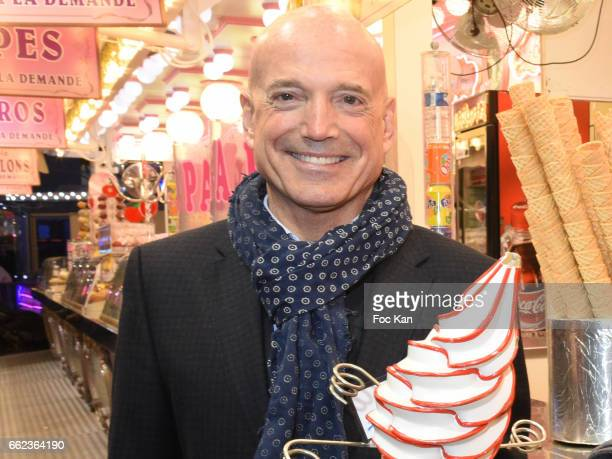 Meteo TV presenter Louis Bodin attends Foire du Trone Auction Launch Party to benefit 'Les Petits Princes' Children Care Association at Pelouse de...