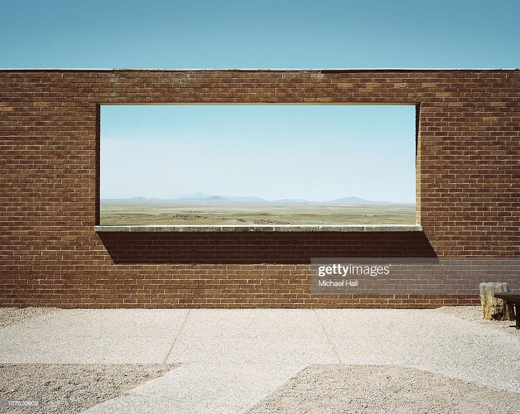 Meteor crater viewpoint : Stock Photo