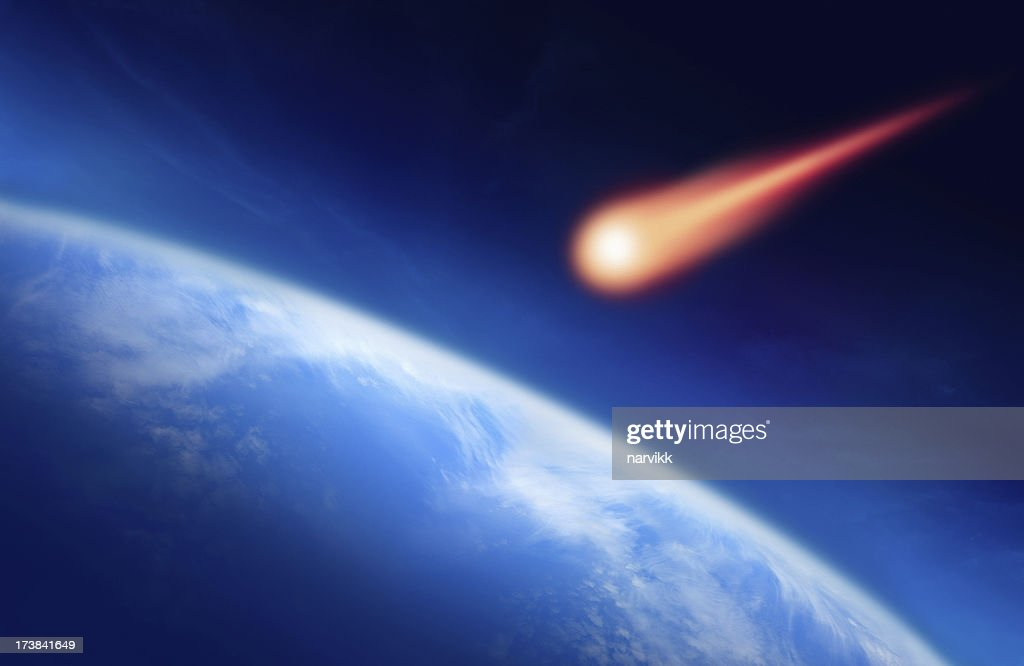 Meteor Falling to the Earth