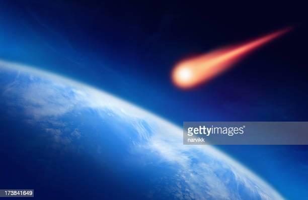Meteoro cair por terra