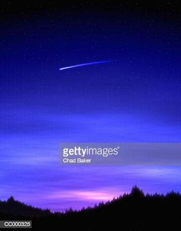 Meteor Flying Through a Darkened Sky
