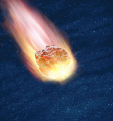 Meteor in night sky (Digital Composite)