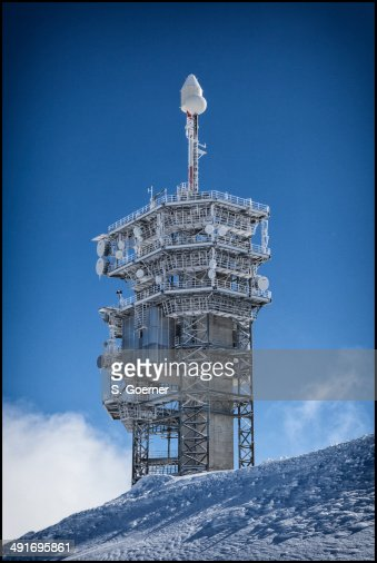 Meteorological station on top of mount Titlis.