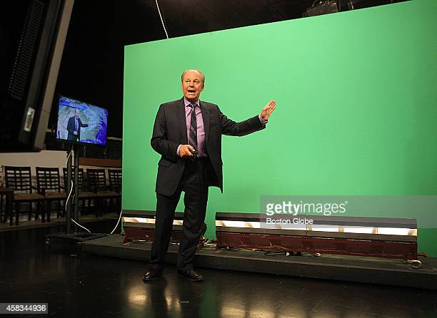 Meteorologist Harvey Leonard at WCVB Channel 5 where he has been a weatherman for 40 years