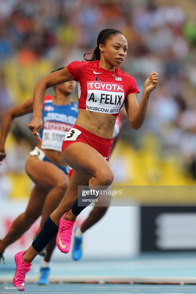 200 Meter Allyson Felix USA Leichtathletik WM Weltmeisterschaft Moskau 2013 IAAF World Championships athletics moscow 2013 russia track and field