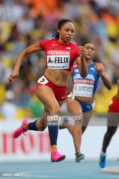 200 Meter Allyson Felix USA Leichtathletik WM Weltmeisterschaft Moskau 2013 IAAF World Championships athletics moscow 2013 russia track and field