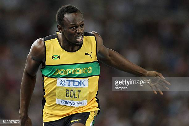 200 meter final men finale Usain Bolt JAM IAAF Leichtathletik WM Weltmeisterschaft in Daegu Sudkores 2011 IAAF world Championship athletics in Daegu...