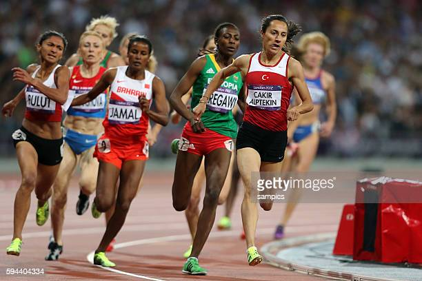Meter Finale Olympiasieger olympic Champion Goldmedalist Gold Asli Cakir Alptekin Athletics Leichtathletik Olympische Sommerspiele in London 2012...