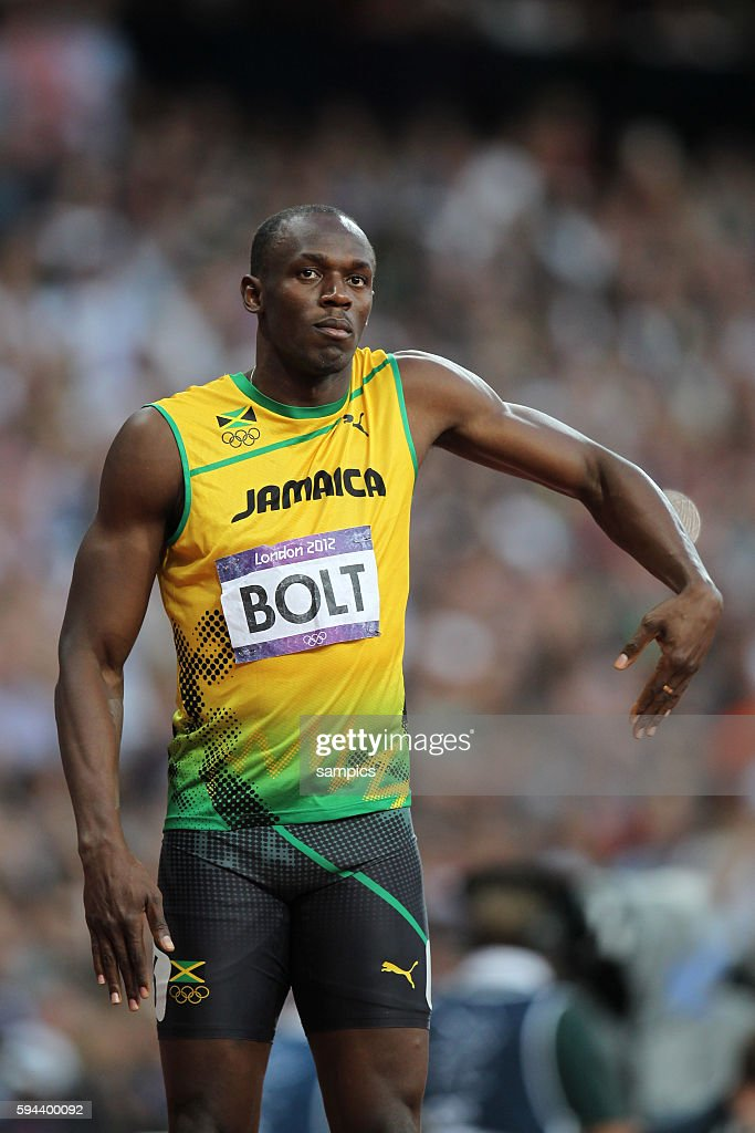 200 Meter men Olympiasieger olympic Champion Goldmedalist Gold Usain Bolt JAM Leichtathletik athletics Olympische Sommerspiele in London 2012 Olympia...