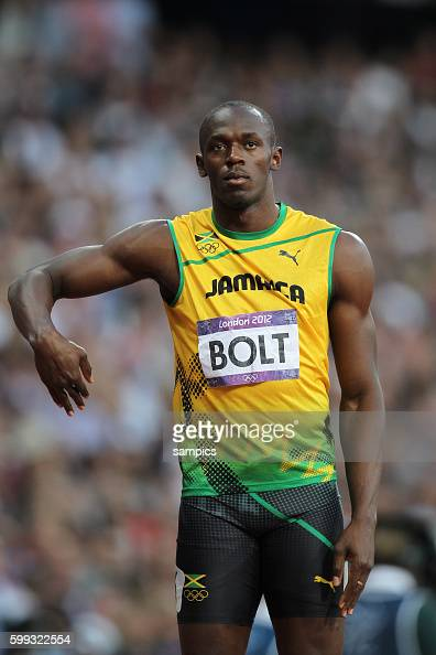 200 Meter men Olympiasieger olympic Champion Goldmedalist Gold Usain Bolt JAM Leichtathletik athletics Olympische Sommerspiele in London 2012 Olympia...