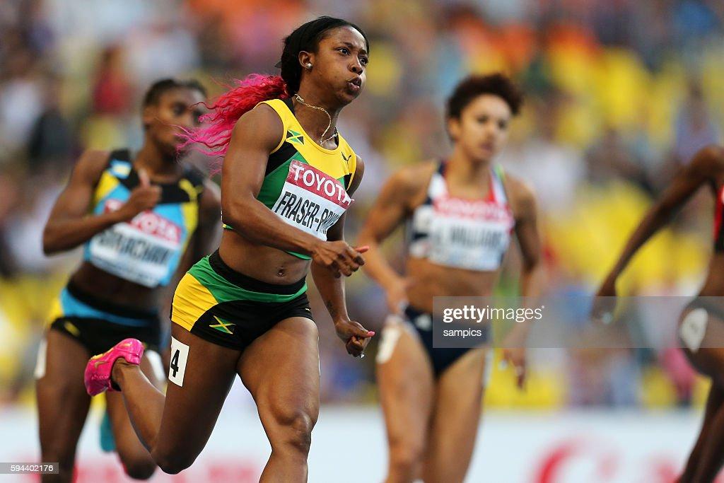 200 Meter Shelly Ann Fraser Pryce Leichtathletik WM Weltmeisterschaft Moskau 2013 IAAF World Championships athletics moscow 2013 russia track and...