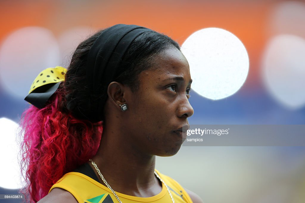 100 Meter Weltmeisterin Shelly Ann FRaser Pryce JAM world champion 100 meter 200 m Vorlauf Leichtathletik WM Weltmeisterschaft Moskau 2013 IAAF World...