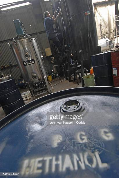 Methanol is used as a catalyst to react with cooking oil and sodium hydroxide in the reaction tank to produce biodiesel for navy vehicles and vessels...