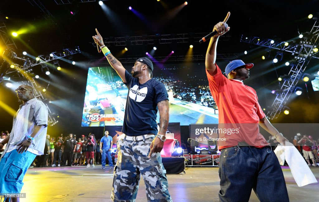Method Man (C) and Ghostface Killah perform during HOT 97 Summer Jam XX at MetLife Stadium on June 2, 2013 in East Rutherford, New Jersey.