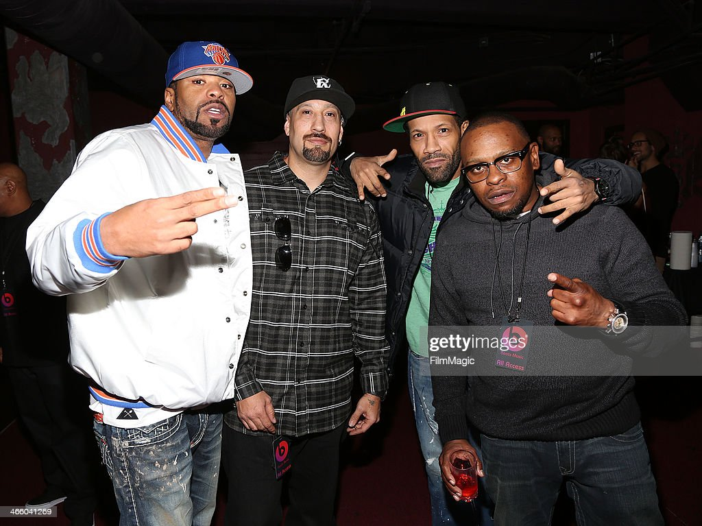 Method Man BReal Redman and Scarface attend the Beats Music Launch Party at Belasco Theatre on January 24 2014 in Los Angeles California
