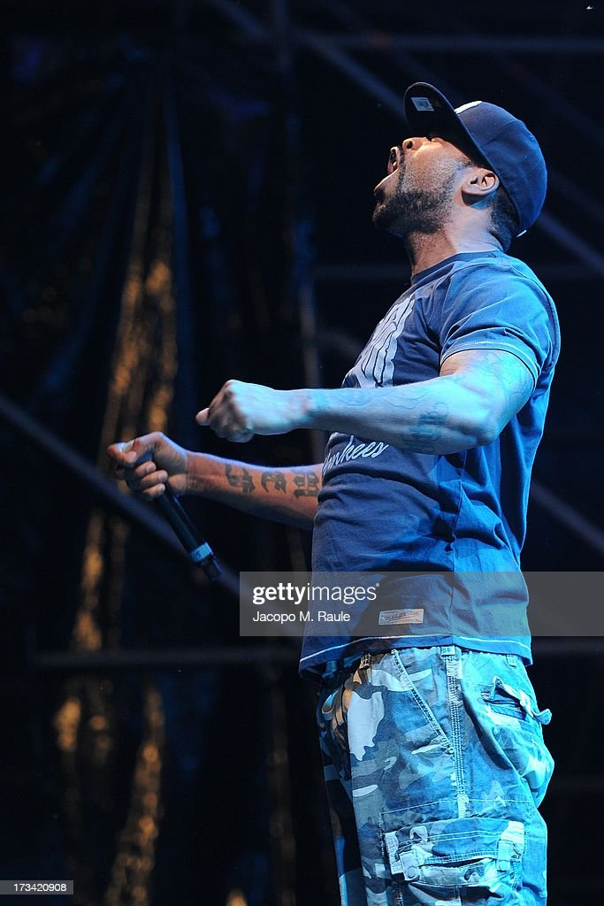 Method Man of Wu Tang Clan Performs At The Alfa Romeo City Sound on July 13 2013 in Milan Italy