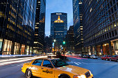 MetLife building and yellow cab
