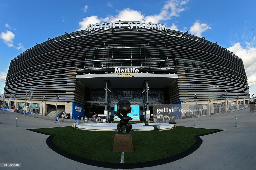 MetLife Stadium is seen prior to the 2012 NFL season opener between the New York Giants and the Dallas Cowboys on September 5 2012 in East Rutherford...
