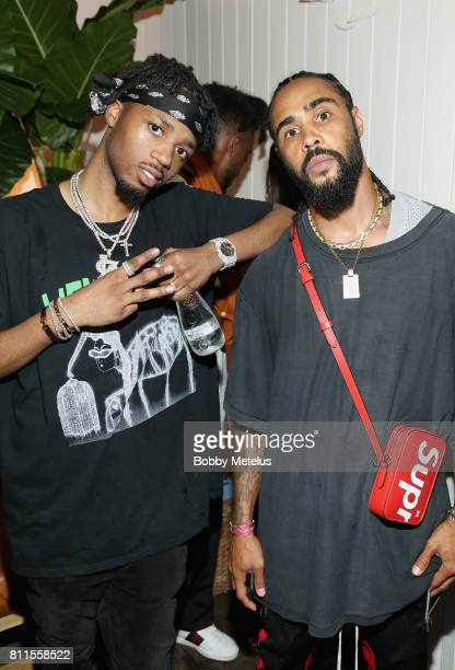 Metro Boomin and Jerry Lorenzo attend the New Era Cap MLB AllStar Party 2017 at Beachcraft at 1 Hotel South Beach on July 9 2017 in Miami Beach...