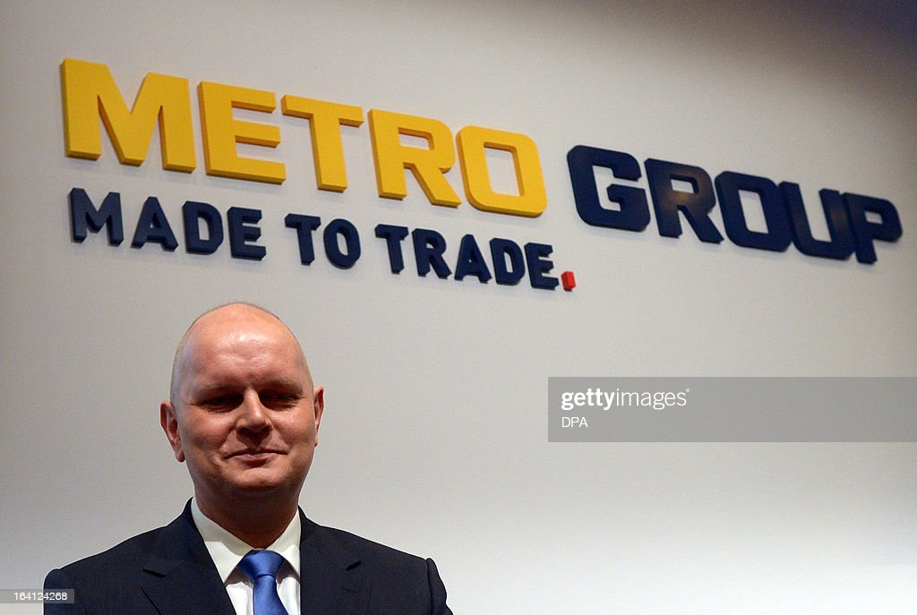 Metro CEO and Chairman of the management board, Olaf Koch, attends the financial statement press conference of the retail and wholesale/cash and carry group Metro in Duesseldorf, Germany, on March 20, 2013. Metro stated, that its net profit in 2012 declined sharply by almost 90 percent to just 101 million euros. AFP PHOTO / FEDERICO GAMBARINI