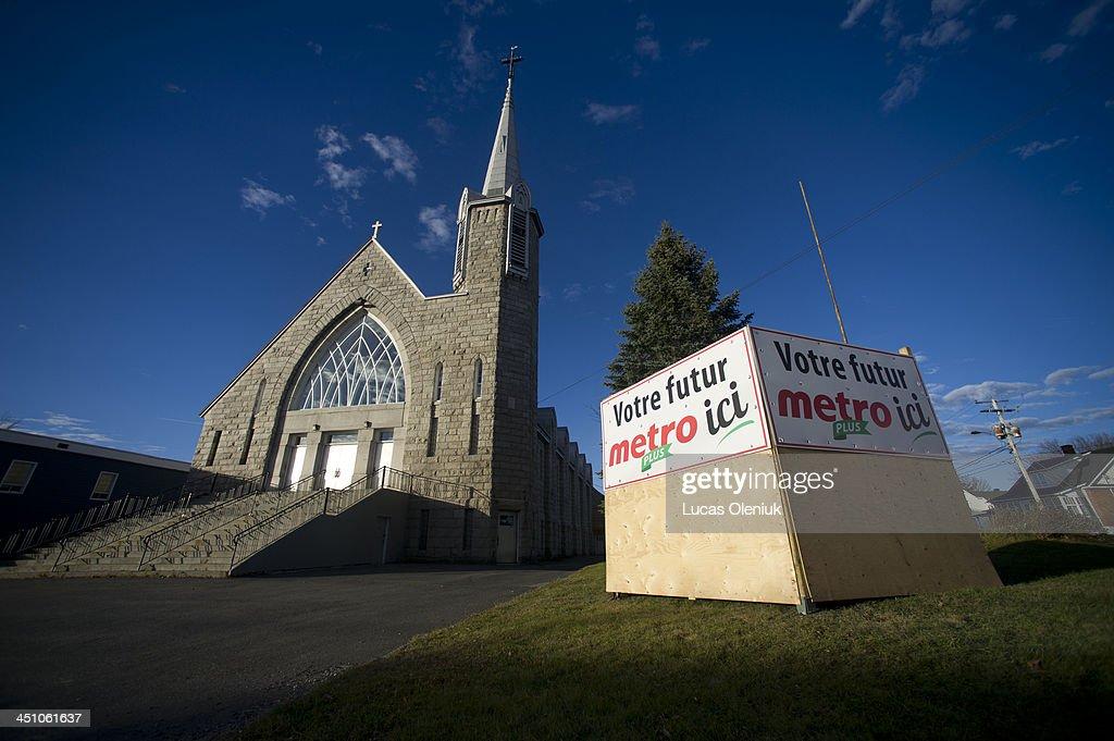 Metro has plans to move into a church as the town reorganizes itself following the derailment in LacMégantic