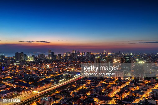 Metro Manila at dusk