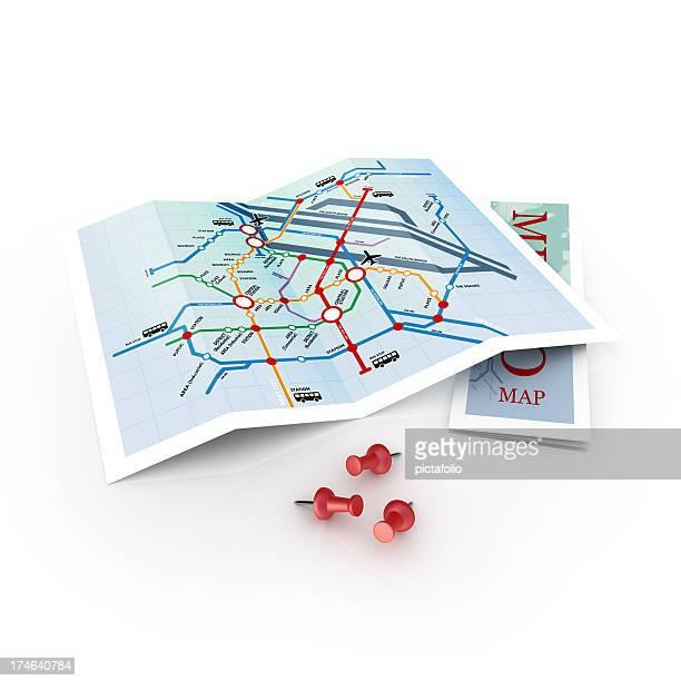 Metro oder U-Bahn-Karte