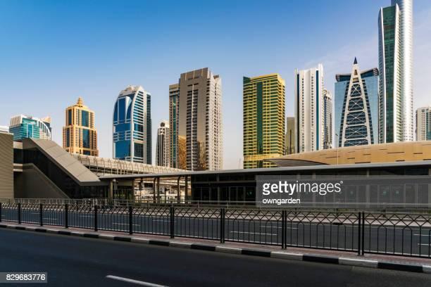 Metro Riding Through Downtown Dubai / Dubai, UAE