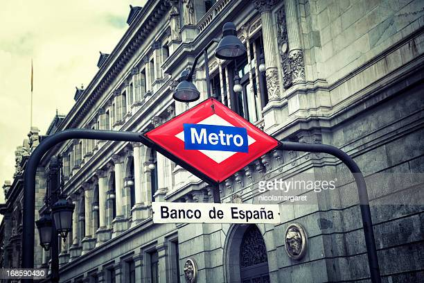 Metro station at the Spanish Bank in Madrid