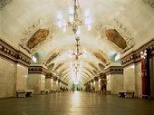 Metro station, interior view