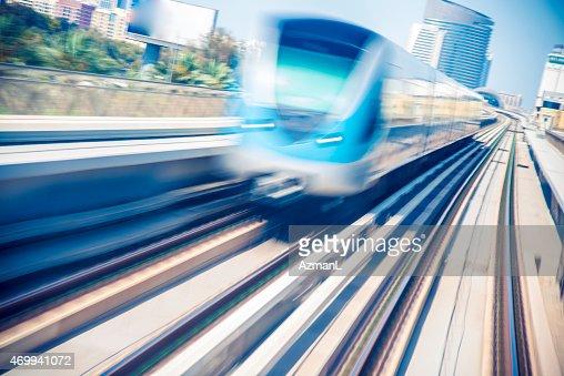 Metro Train in Dubai