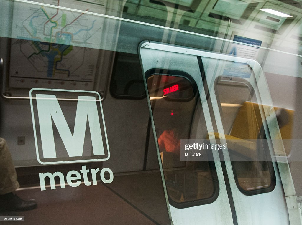 Metro trains stop at the Federal Triangle station on Friday, May 6, 2016. The Washington Metro Area Transit Authority issued its 'Safe Track' plan to improve reliability and safety in Washington's public transit system.