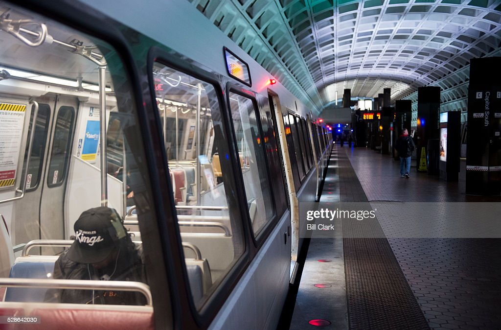 A Metro trains stops at the Capitol South station on Friday, May 6, 2016. The Washington Metro Area Transit Authority issued its 'Safe Track' plan to improve reliability and safety in Washington's public transit system.