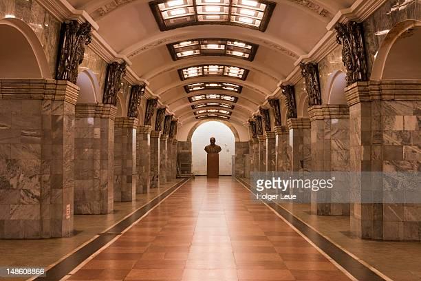Metro underground rail station.