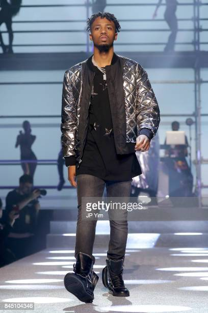 Metro walks the runway at the Philipp Plein fashion show during New York Fashion Week The Shows at Hammerstein Ballroom on September 9 2017 in New...