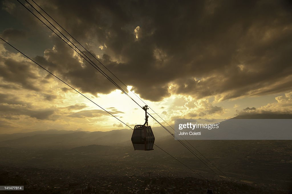 Metrocable Car, Medellin, Colombia : Stock Photo