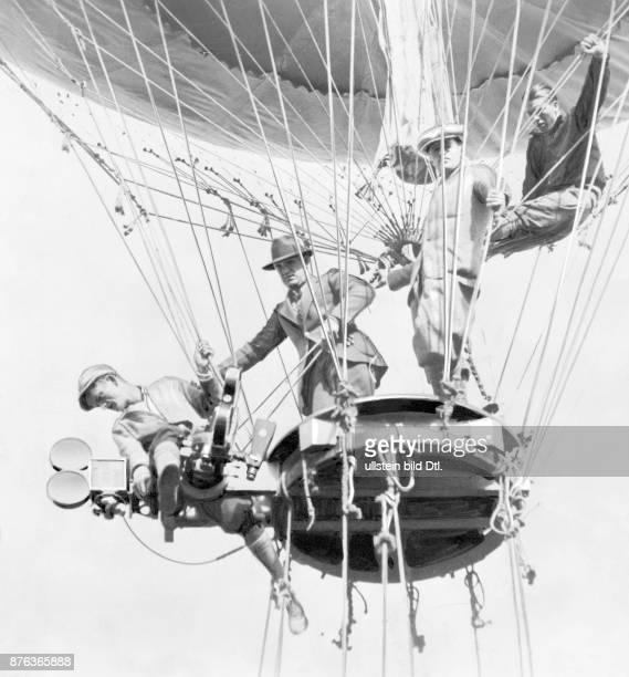 MetroGoldwynMayer Studios Inc MGM film studio shooting from a hot air ballon