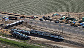 Metrolink train derailed after colliding with a vehicle on the tracks February 24 2015 in Oxnard California The collision which occurred at the Rice...